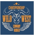 Wild west championship - cowboy rodeo vector image vector image