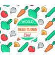 world vegetarian day vector image vector image