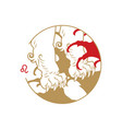 zodiac circle symbol leo vector image