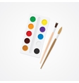 Paintbox and brush Watercolor creative concept vector image