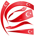 turkey flag set vector image