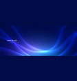 abstract blue wavy background with circular lines vector image