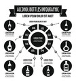 alcohol bottles infographic concept simple style vector image vector image