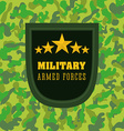 Army design vector image vector image