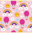 baby panda bears seamless pattern vector image