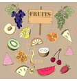 Background with fruit1-04 vector image vector image