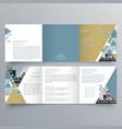 brochure design 718 vector image