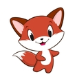 Cartoon Baby Fox vector image vector image