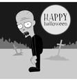 Cartoon of a zombie at the cemetery vector image