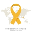 Childhood cancer awareness vector image vector image