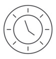 clock thin line icon watch and hour time sign vector image vector image