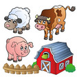 collection of various farm animals vector image vector image