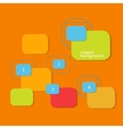 Colored elements for text and symbols vector image vector image