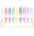 Colorful paper clips collection vector image