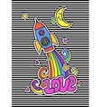 Cute fashion colorful t-shirt design background vector image vector image