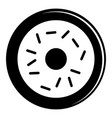 donut icon simple black style vector image vector image