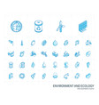 ecology and environmental isometric line icons 3d vector image