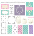 elegant frames templates and design elements vector image vector image