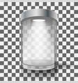 empty glass showcase vector image