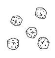 falling casino dice concept vector image