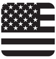 flag grayscale icon vector image vector image