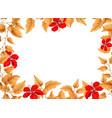 flower and leaf border vector image vector image