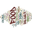 food and feng shui text background word cloud vector image vector image