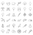 forest hunting icons set outline style vector image vector image