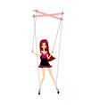 girl marionette vector image