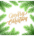 gold christmas card lettering on white snow vector image vector image