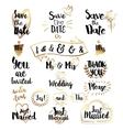 Golden Elements for Save the date vector image vector image