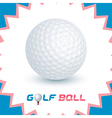Golf Ball Icons vector image