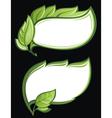 green leaf frames vector image vector image