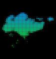 halftone singapore map vector image