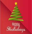 Happy holidays christmas design vector image vector image