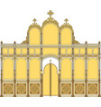 iconostasis2 architectural object vector image vector image
