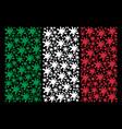 italian flag mosaic of blot icons vector image