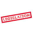Legislation rubber stamp vector image vector image