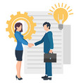 meeting business partners man woman conference vector image vector image