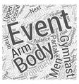 Mens Gymnastics Events Word Cloud Concept vector image vector image
