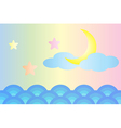 Moon and star over the sea vector image vector image