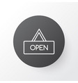 opened placard icon symbol premium quality vector image