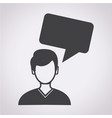 people icon dialog speech bubble vector image vector image