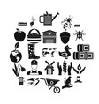 place icons set simple style vector image vector image