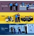 Policeman People Horizontal Banners vector image vector image