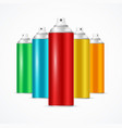 realistic aluminium colorful spray can set vector image vector image