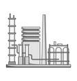 refineryoil single icon in monochrome style vector image vector image