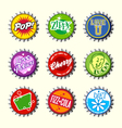 retro bottle cap designs 3 vector image vector image