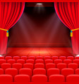 scene cinema background art performance on stage vector image