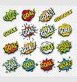scored goal sticker hit ball comics speech vector image vector image